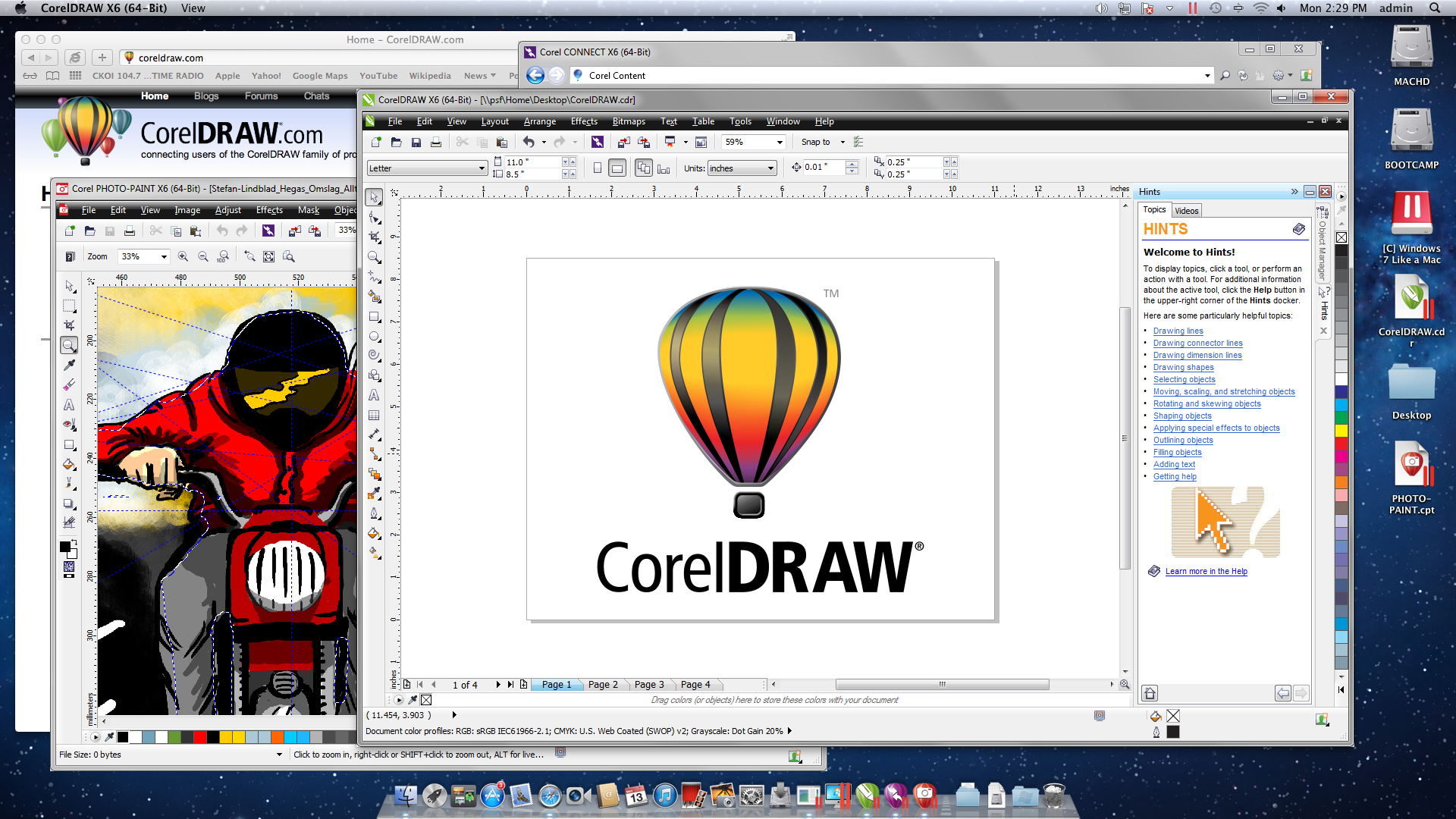Corel draw version - You Can Run Coreldraw On A Mac G Rard On Graphics Blogs Coreldraw Community