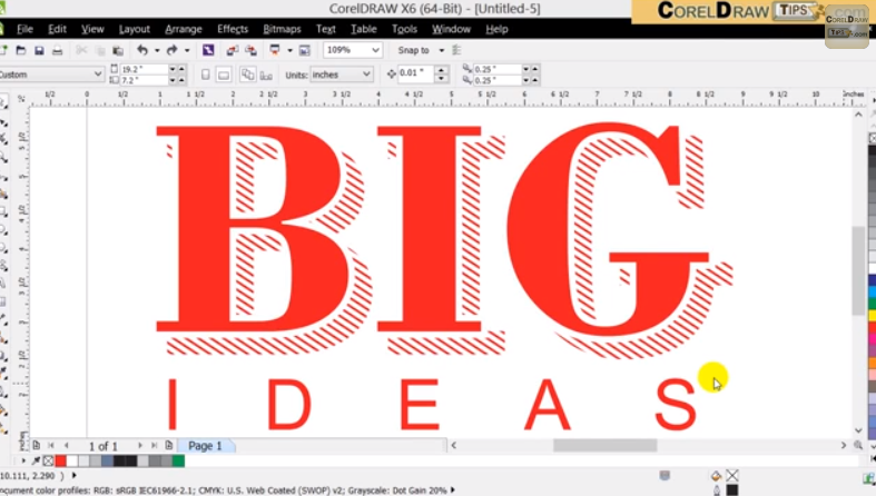 How To Make A Book In Coreldraw : Creating an interesting text drop shadow in coreldraw