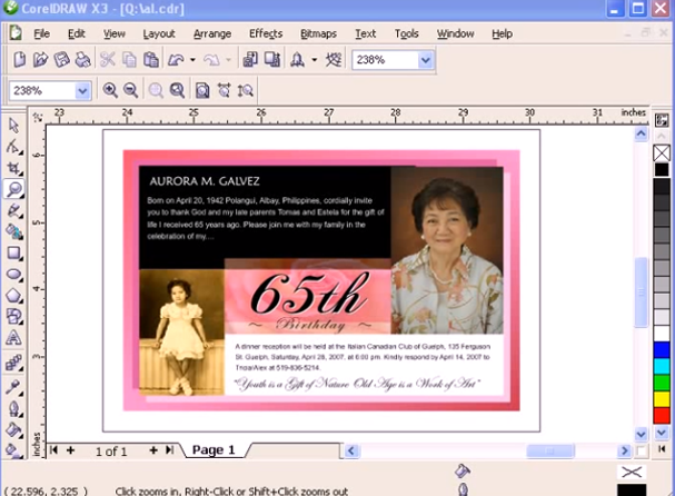 Creating A Greeting Card In CorelDraw X3 Tutorial