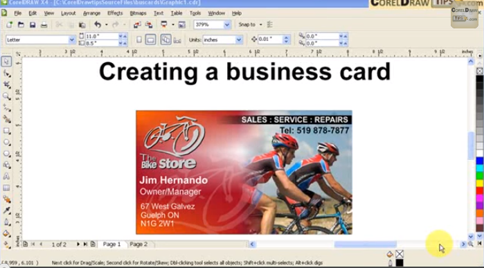 Designing a business card in coreldraw alex galvezs blog blogs to design a business card and have the file ready for the printer it also shows you how to setup a file that you can print with your desktop printer reheart Gallery