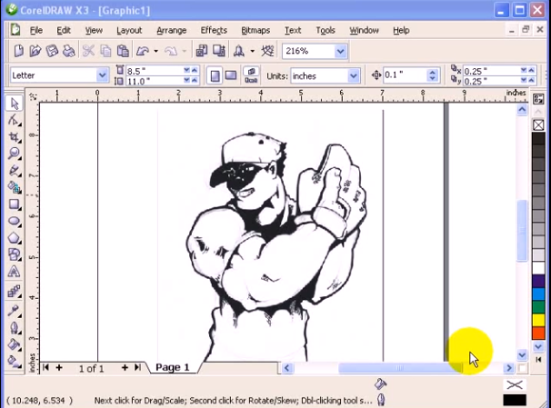 Tracing a drawing in CorelDraw (basic) - Alex Galvez's Blog