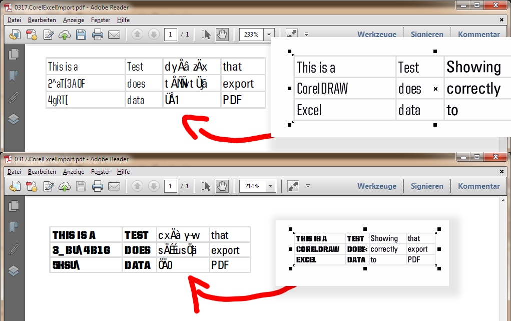 BR: CorelDRAW does not output Excel data correctly - CorelDRAW X6