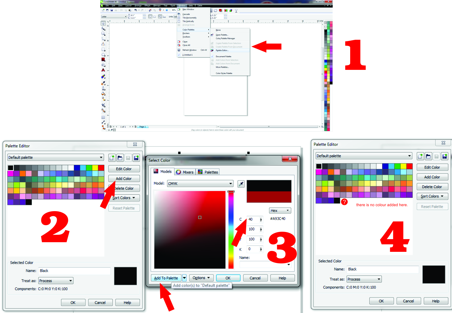 Line color in coreldraw - Corel Draw X6 Colour Plate Editor Does Not Add Colours In The Plate Why