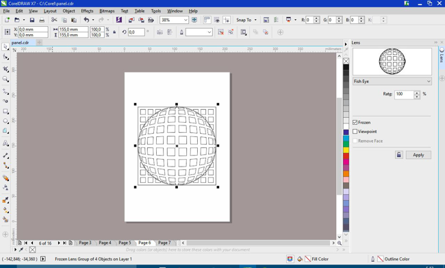 The Tip of the Week: Using the Fish Eye lens - CorelDRAW Tips