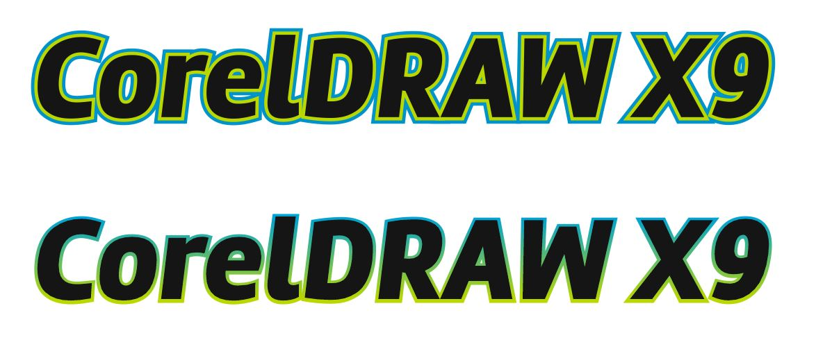 How to create object outline in coreldraw