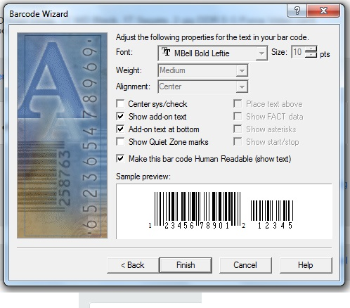 How To Change The Font Of Bar Code In Bar Code Wizard Coreldraw