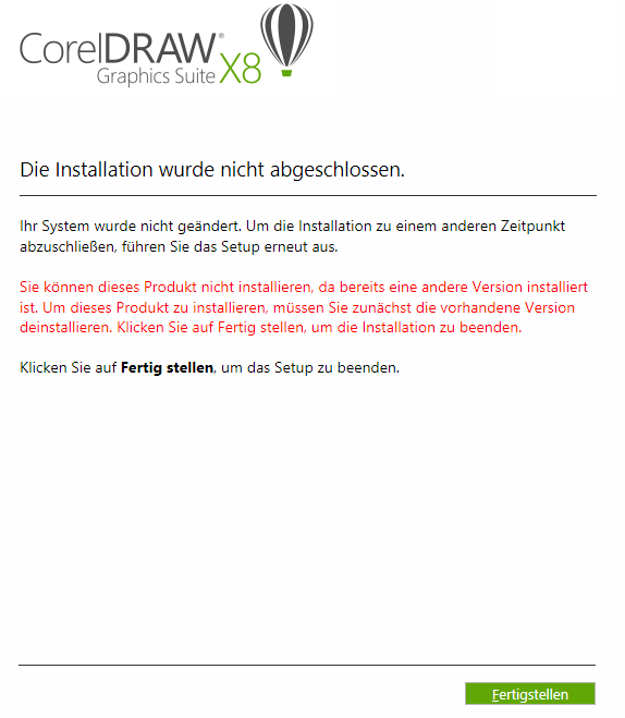 Fehler bei der Installation - Deutsch (German) - CorelDRAW Graphics ...