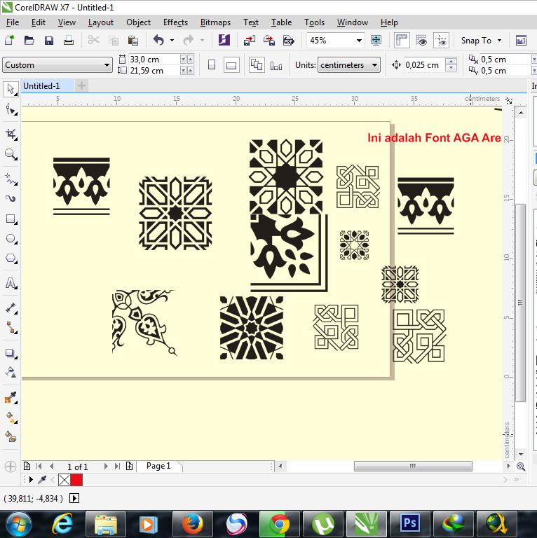 Line Art Corel : How to make arabesque vector on corel draw apparel and