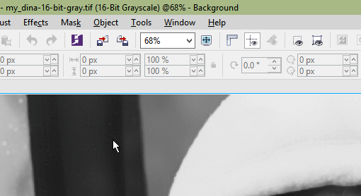 Can I import/work with 16 bit grayscale images? - Corel