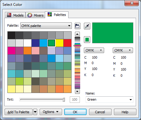 how to change color of line in coreldraw