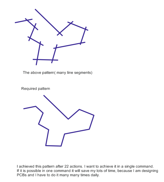 How to connect several straight line segments in one