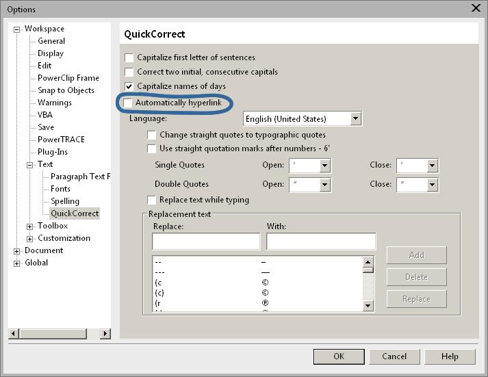 Remove Automatic Hyperlink In Text Coreldraw X6 Coreldraw Graphics Suite X6 Coreldraw Community