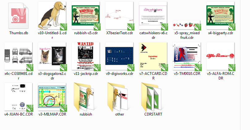 Corel Draw x3 and x7 but, corel draw x3 thumbnails are smaller then x7 ...
