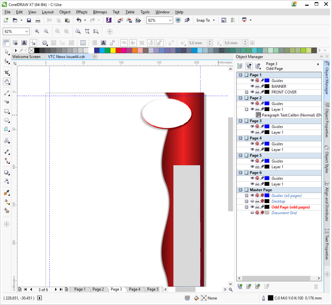 corel draw how to lock master layer