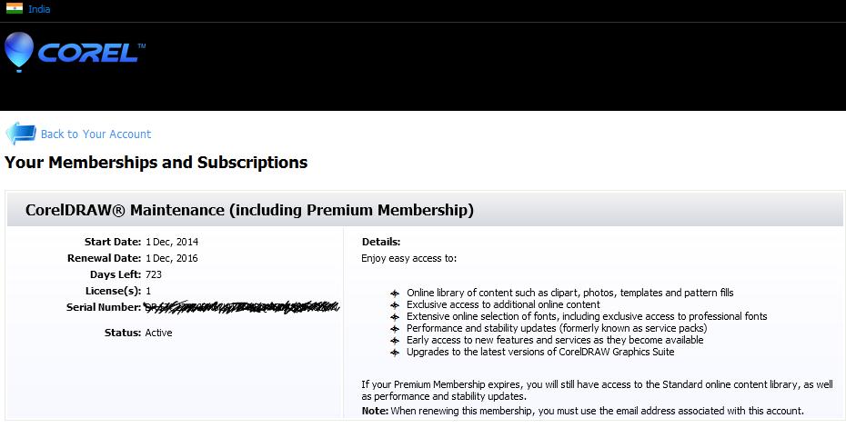 Premium Membership Activation Coreldraw Graphics Suite X7