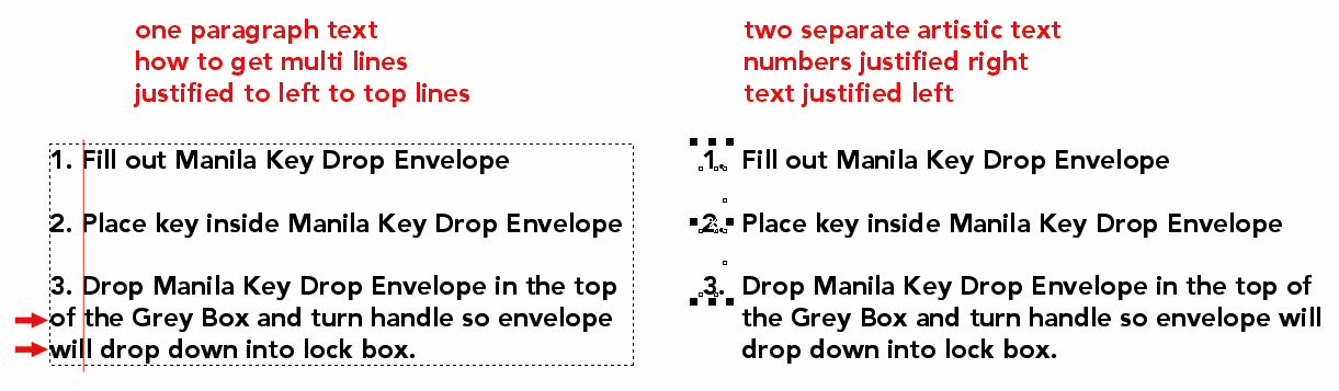 how to delete paragraph text frame in corel draw