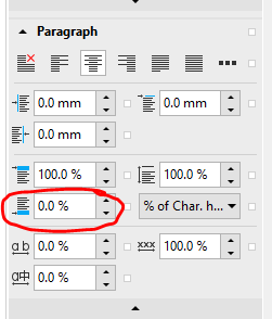 how to change paragraph spacing in coreldraw