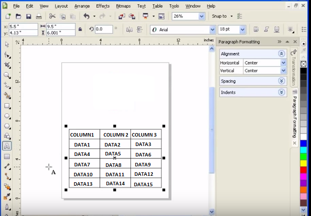 HOW to import the data from MS excel to coreldraw table