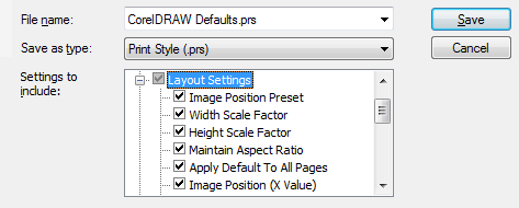 Is there any way to have Corel Draw remember the bleed limit