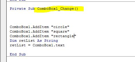 Create ComboBox Vba code in CorelDraw X7 - CorelDRAW X7 - CorelDRAW