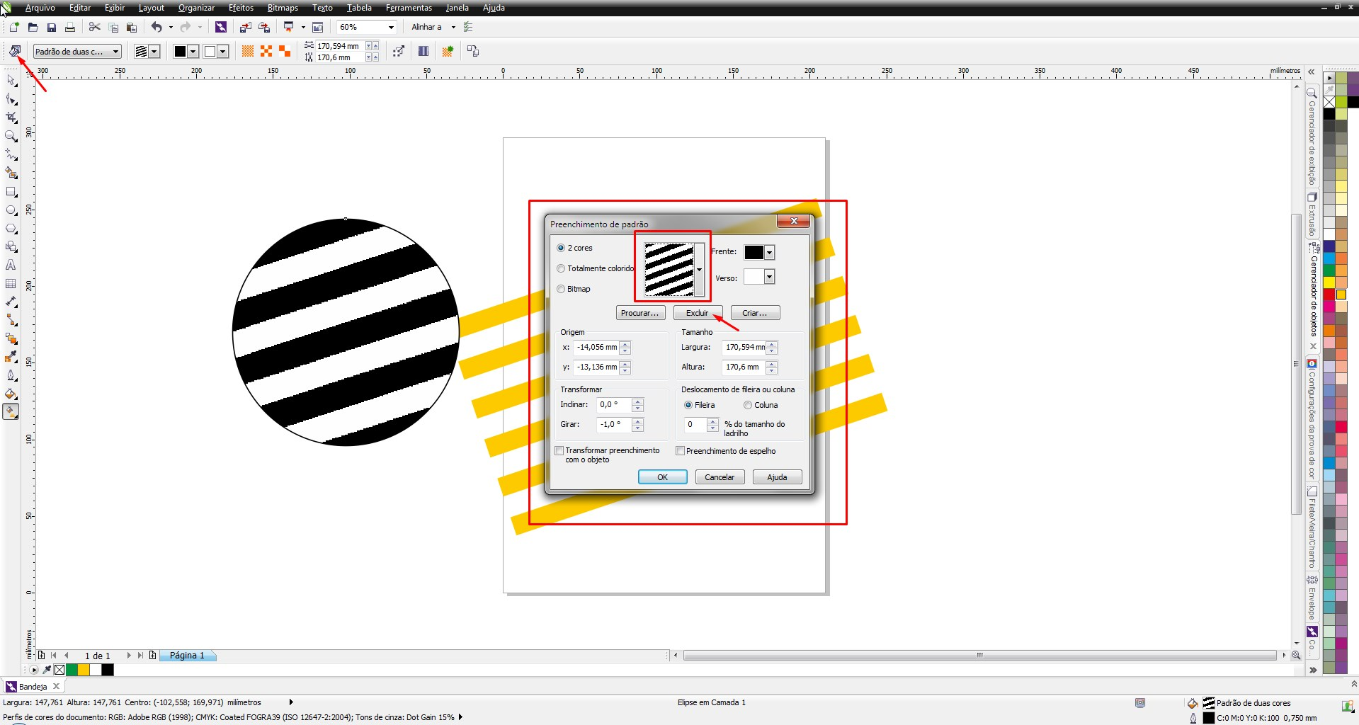 Line color in coreldraw - By The X6 It Was Perfectly Possible To Delete Custom Fills Two Colors Why Corel