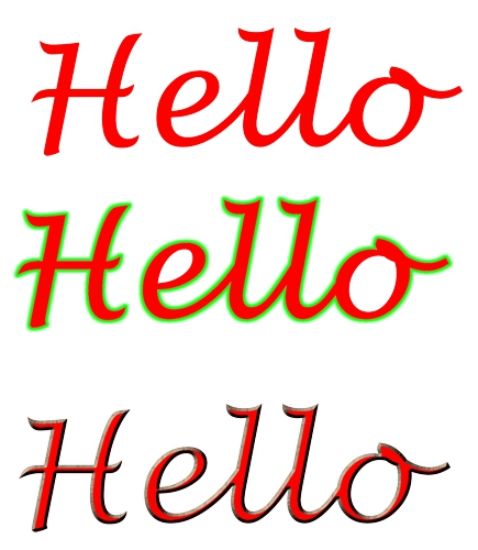 how to make a border for corel draw text