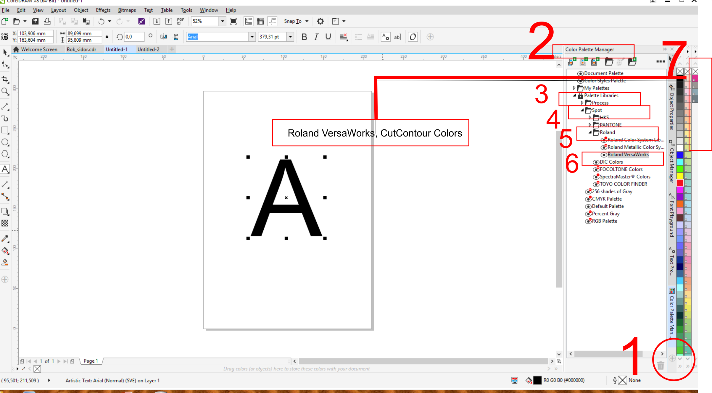 Line color in coreldraw - I Am Using Coreldraw X6 But The Same Goes For X6 And X7