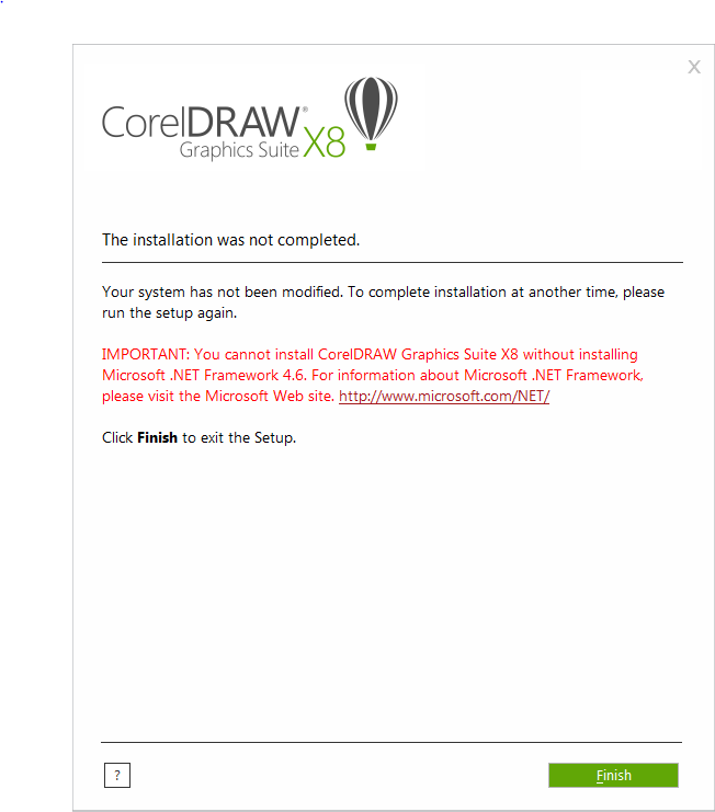 i cant istall coreldraw x8 in my computer and i get the time constraints install