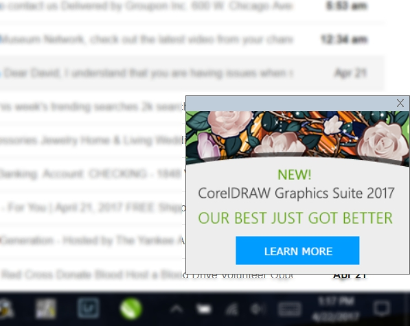 How Can I Turn Off These Annoying Ads Coreldraw Graphics