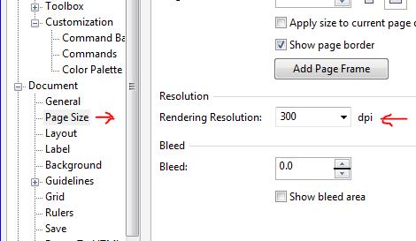 Default setting for Export - CorelDRAW Graphics Suite X8