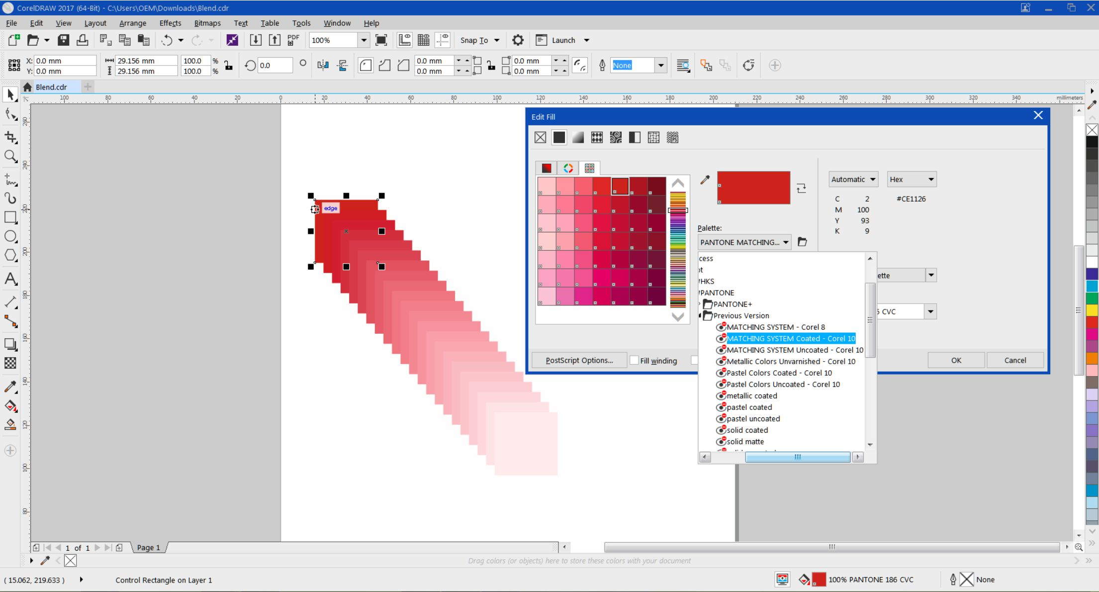 how to use blend tool in coreldraw x6