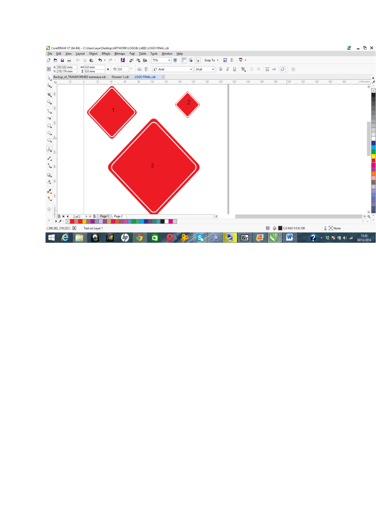 PROPORTIONAL SCALING OF OBJECTS - CorelDRAW Graphics Suite X7
