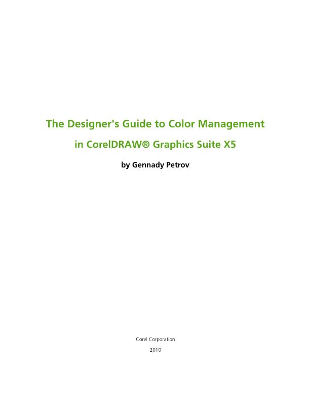 designer s guide to color management how to and tips tricks rh community coreldraw com Corel Corporation Logo Corel Corporation of America