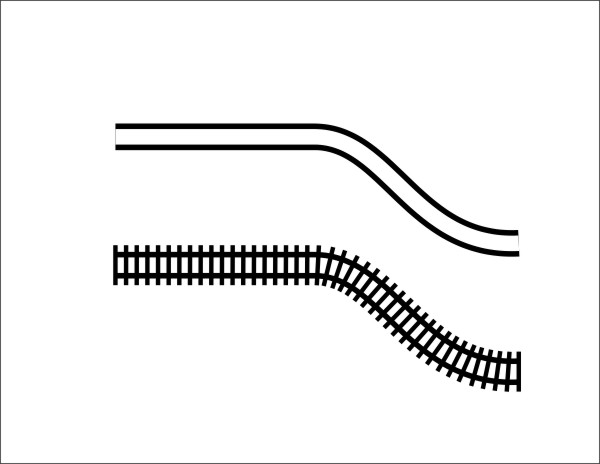 Line Drawing Train : Image gallery line drawing railroad tracks