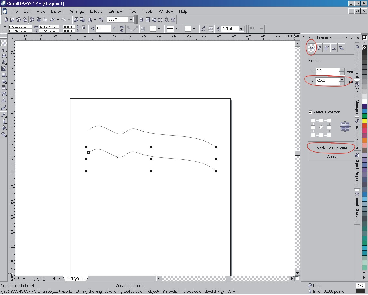 Lines Offset From Each Other Coreldraw X3 Coreldraw X3 And Older