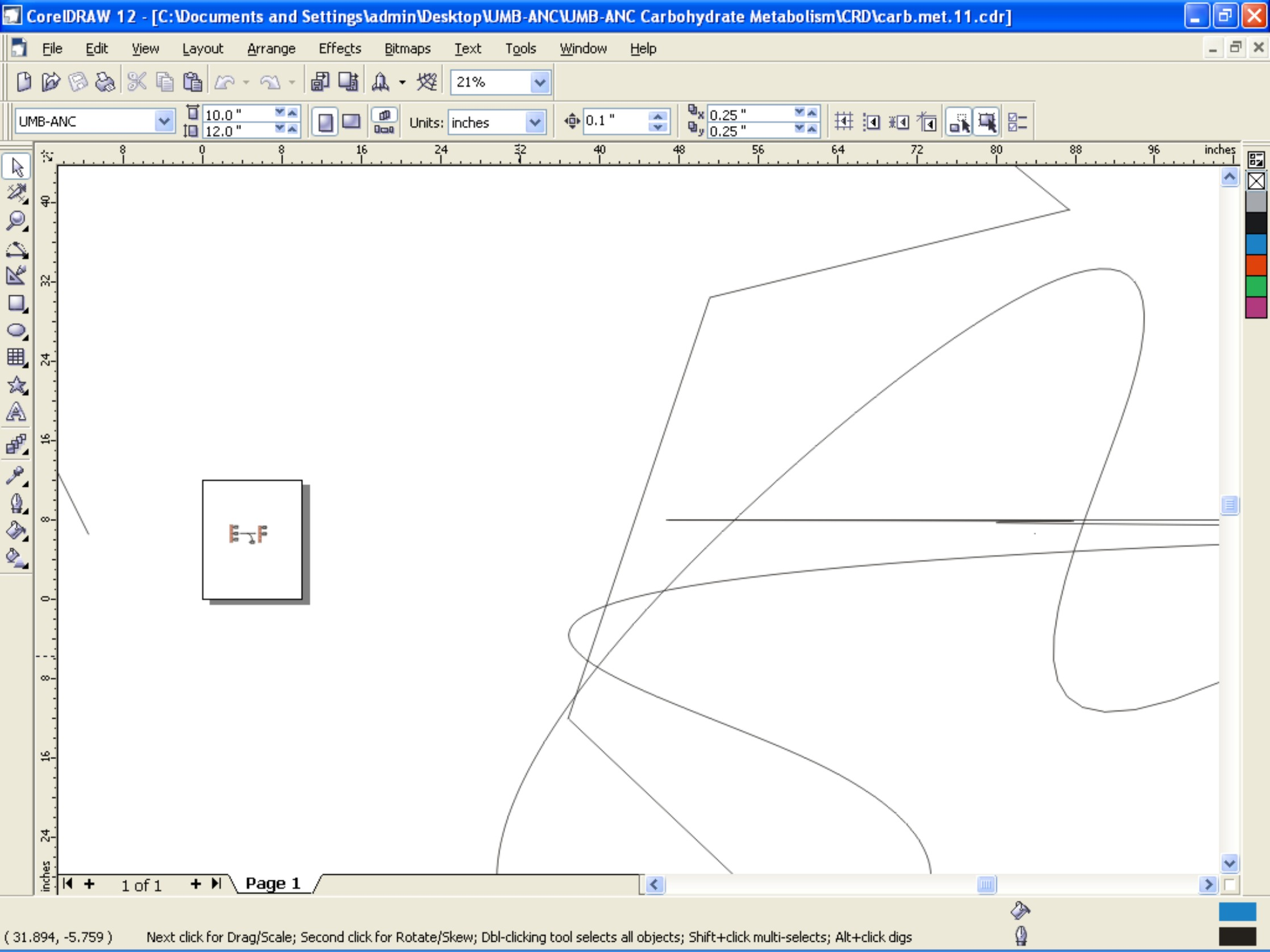Coreldraw version 12 - Defect 3