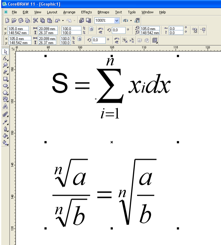 Mathematical Equations Coreldraw Graphics Suite 12 Coreldraw X3