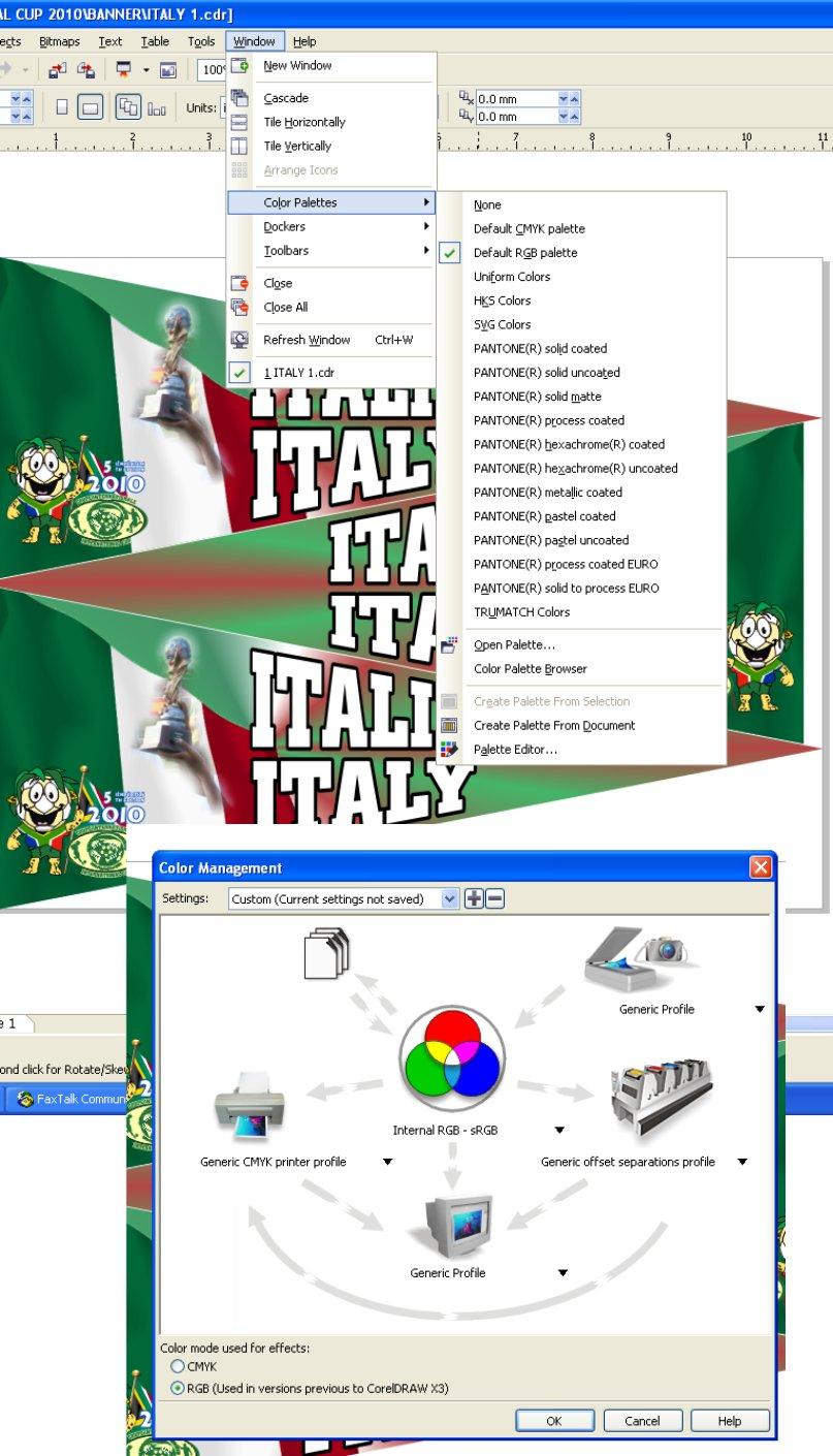 Color Display in CorelDRAW X4 - CorelDRAW X4 - CorelDRAW