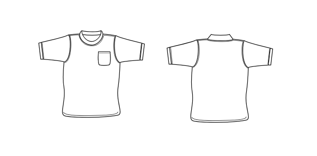 tee-shirt outline - Co...