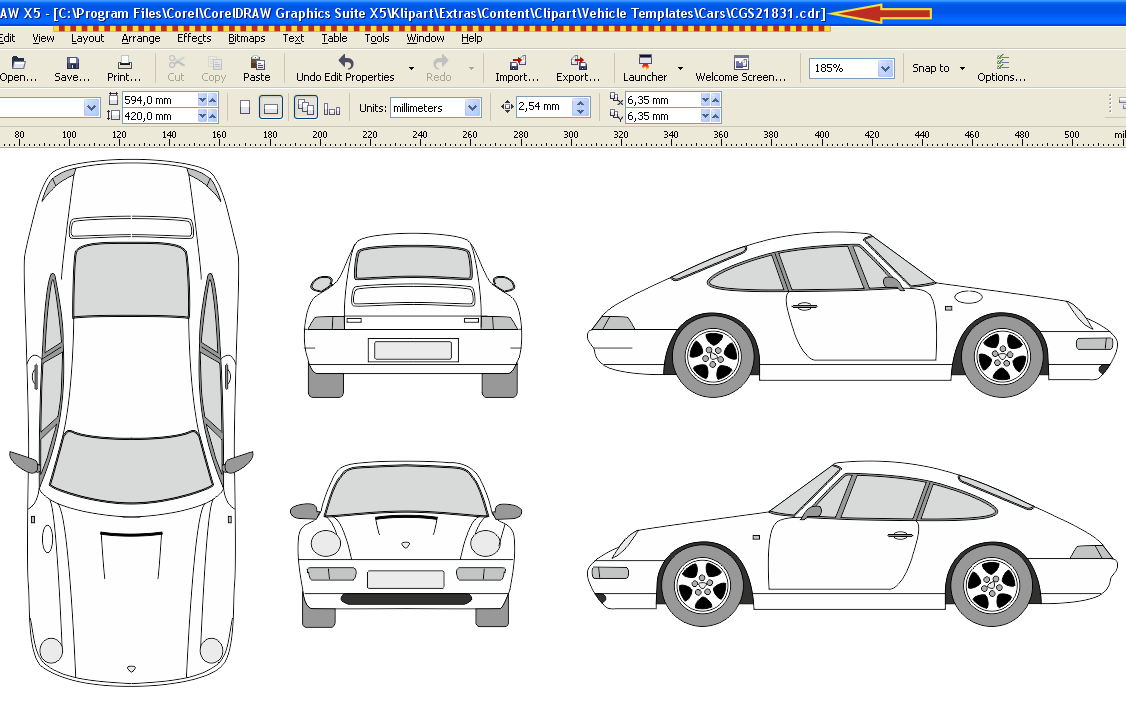 vehicle templates community site general questions coreldraw