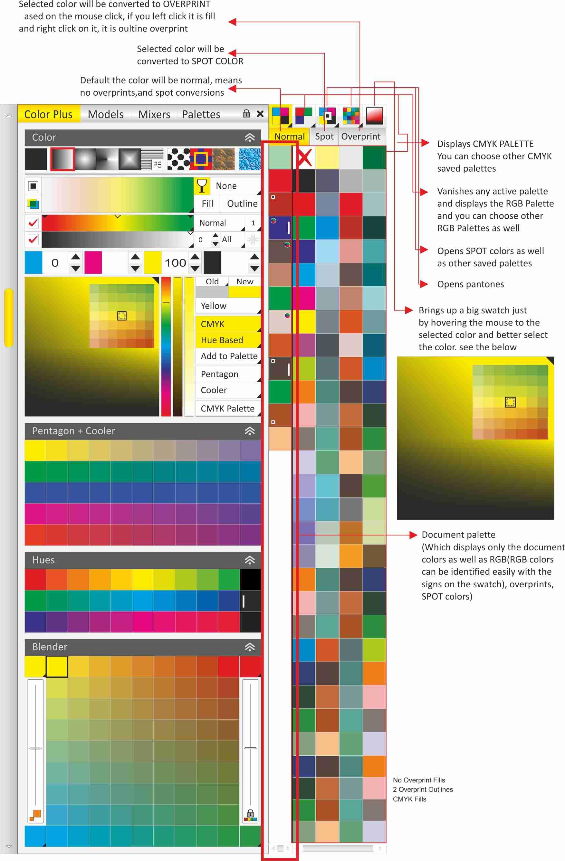 Line color in coreldraw - Color