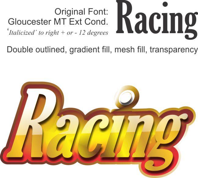 Racing Style Fonts - CorelDRAW Graphics Suite X5 ...