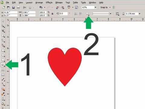 Heart Shape Coreldraw Graphics Suite X5 Coreldraw Graphics Suite