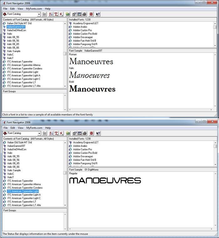 Font Navigator Problem Since Hotfix - Reduced number of