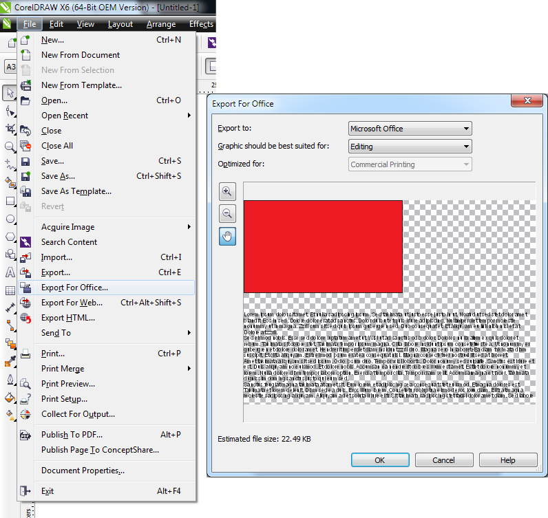 How to Export  cdr file into MS Word format ? - CorelDRAW Graphics