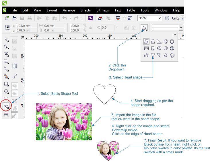 How To Put An Image into a heart shape - CorelDRAW ...