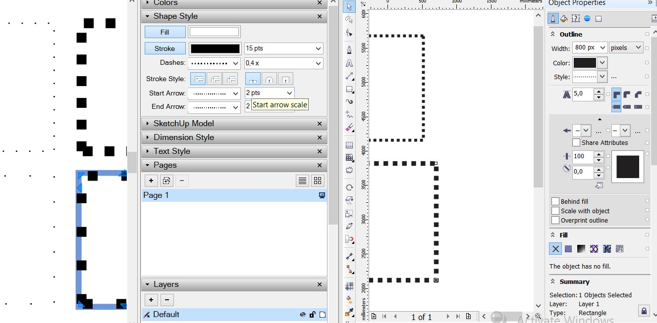 how to change line spacing in corel