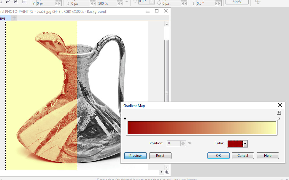 how to change color of image in corel photo paint