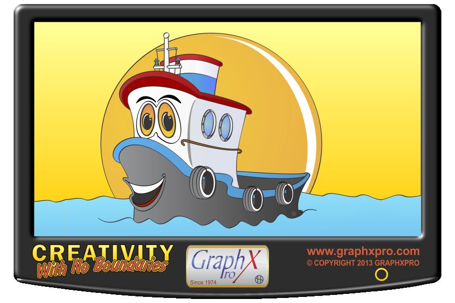 Boat Cartoon Png Cartoon Tug Boat