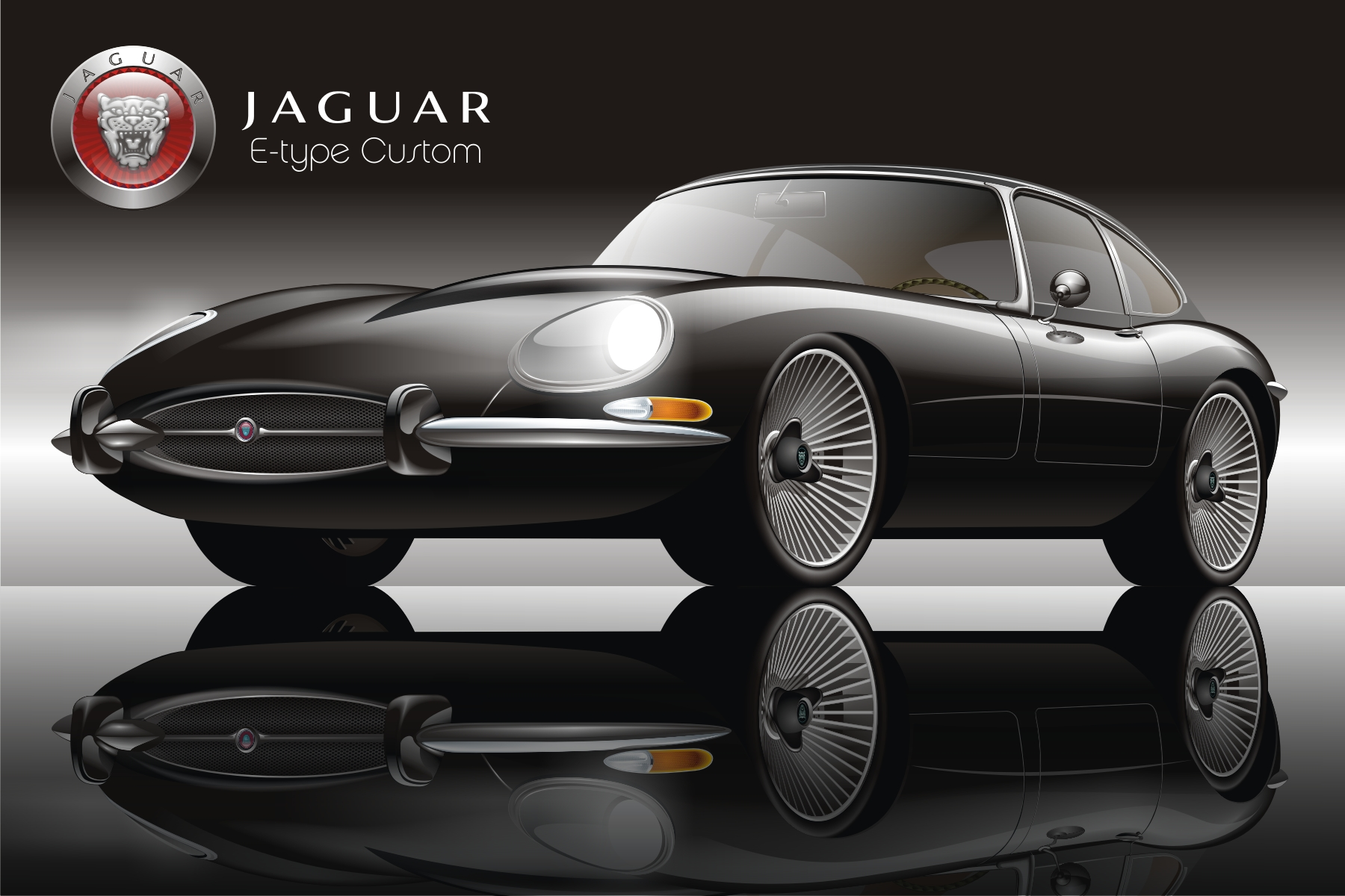 Jaguar E Type (black)   Sonny Leonu0027s Gallery   Community Galleries  (PQRS)   CorelDRAW Community
